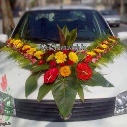 ماشین عروس با ژربرا MT033