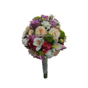دسته گل عروس رز بنفش