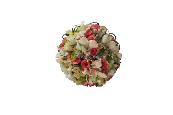 دسته گل عروس رزمینیاتوری و ارکیده