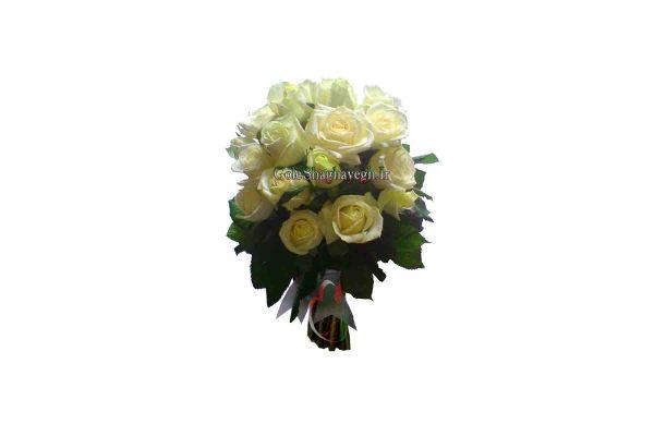 دسته گل عروس رز نباتی