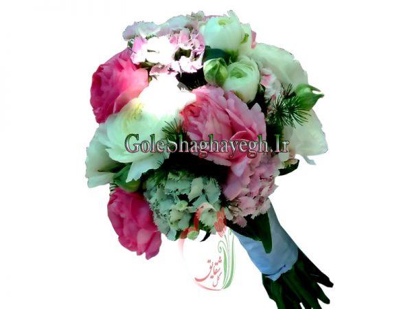 دسته گل عروس رز صدتومنی