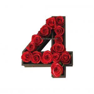 جعبه گل عدد